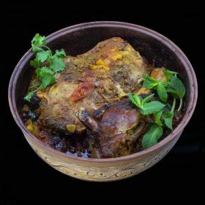 Лопатка ягнёнка с нутом по-мароккански