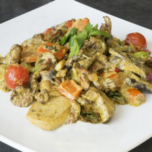 Тайский зеленый карри с грибами