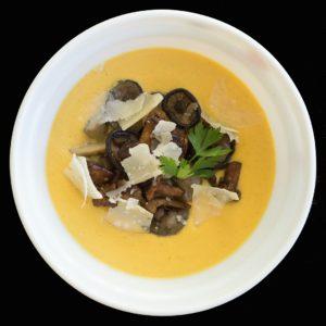 Тыквенный крем-суп с грибами