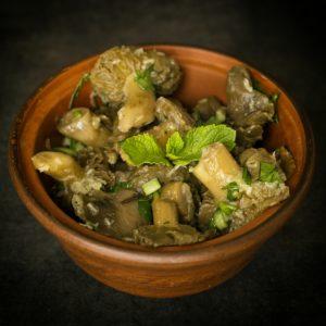Зеленушки маринованные в чесноке