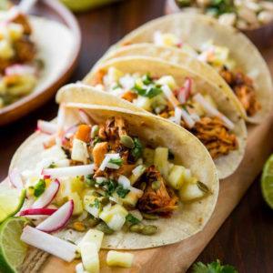 Лепёшки со свининой Такос Аль Пастор (Tacos al Pastor)