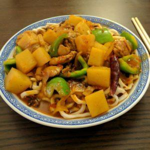 Курица с картофелем и лапшой Да Пан Джи (Da Pan Ji)