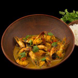 Аутентичный шри-ланкийский карри с креветками