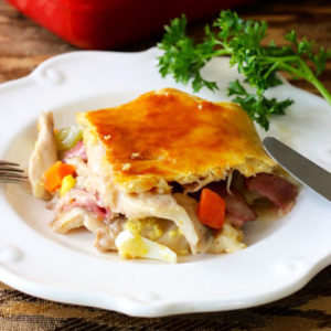 Пирог с курицей (Hoenderpastei)