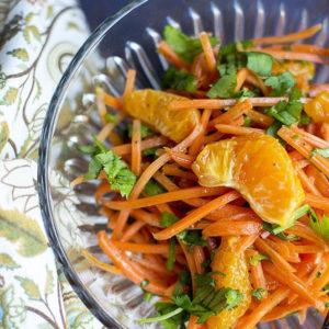 Салат из моркови и апельсинов