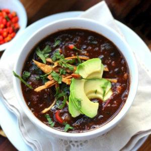 Суп из чёрной фасоли (Sopa de Frijol Negro)