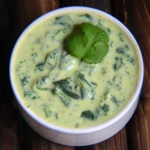 Закуска Райта из шпината (Palak Ka Raita)