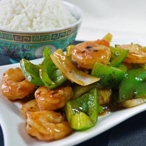 КРЕВЕТКИ В СОУСЕ ИЗ ЧЁРНОЙ ФАСОЛИ (Stir-Fry Shrimp in Black Bean Sauce)