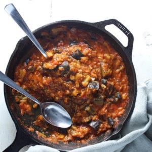 Салат из баклажанов Заалук (Zaalouk)