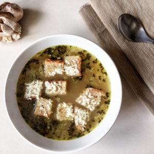 Чесночный суп (Česnečka)