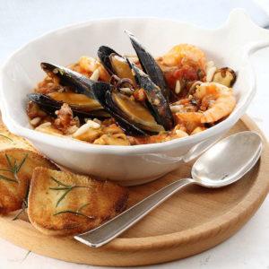 Неаполитанский суп с мидиями (Zuppa di Cozze alla Napoletana)