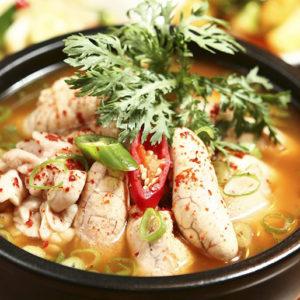 Острый суп с икрой минтая Аль-Тан, Аль-Джиджи (Al Tang, Al Jjigae 알탕)