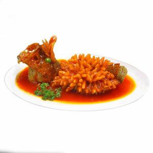 Рыба-белка в кисло-сладком соусе