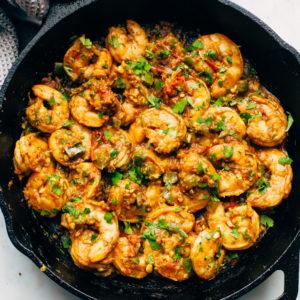 Острые креветки по-сычуаньски (Sichuan Spicy Shrimp)